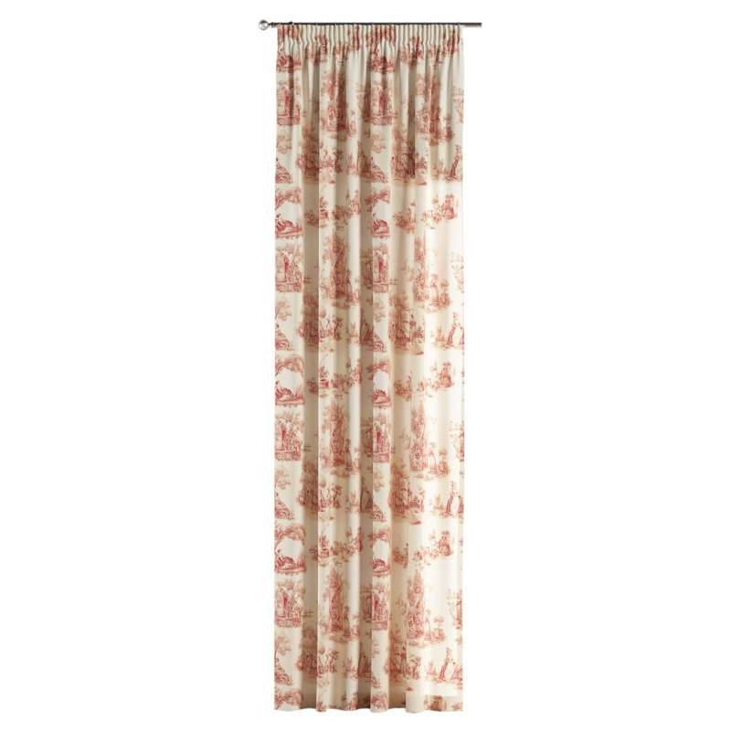 Pencil pleat curtains in collection Avinon, fabric: 132-15