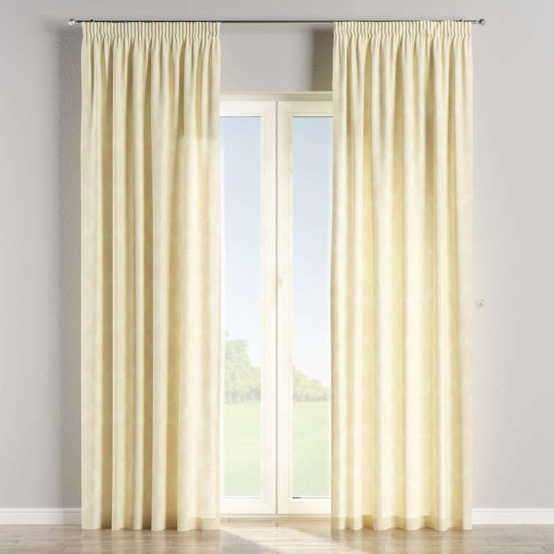 Pencil pleat curtains in collection Damasco, fabric: 613-01