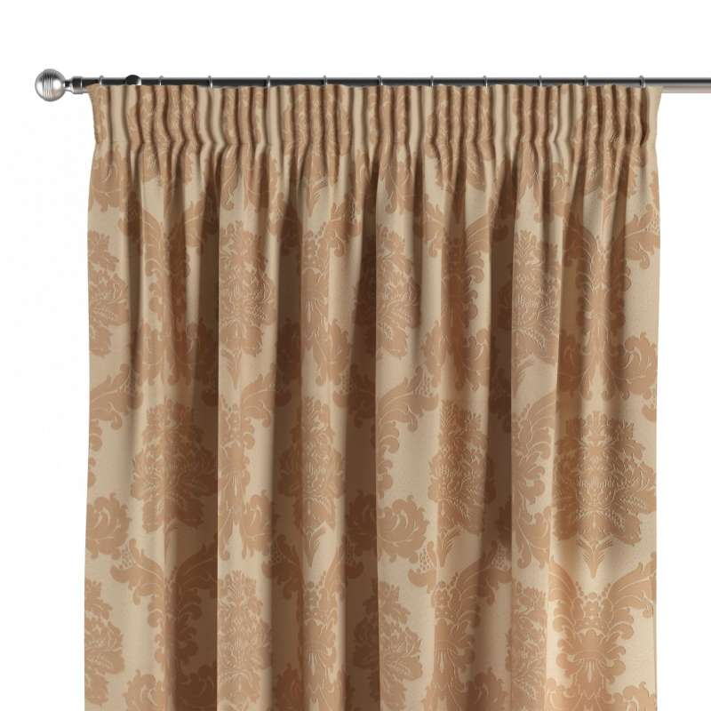 Pencil pleat curtains in collection Damasco, fabric: 613-04