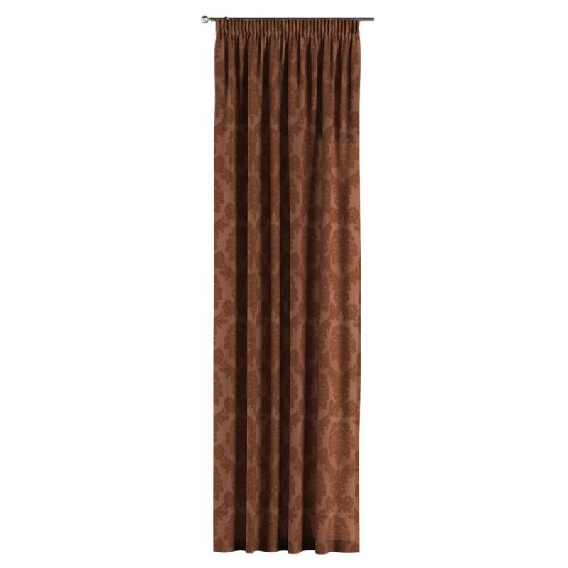 Pencil pleat curtains in collection Damasco, fabric: 613-88