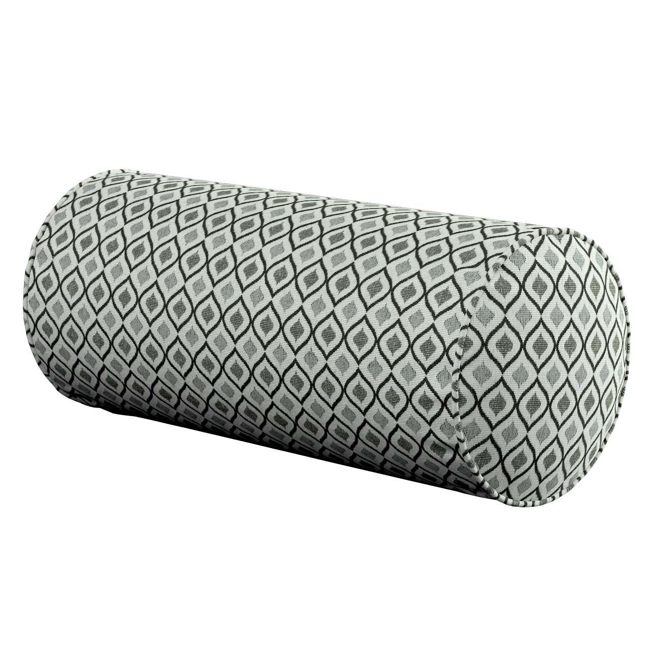 Einfache Nackenrolle, schwarz-weiß, Ø 16 × 40 cm, Black & White | Schlafzimmer > Kopfkissen > Nackenstützkissen & Nackenrollen | Dekoria