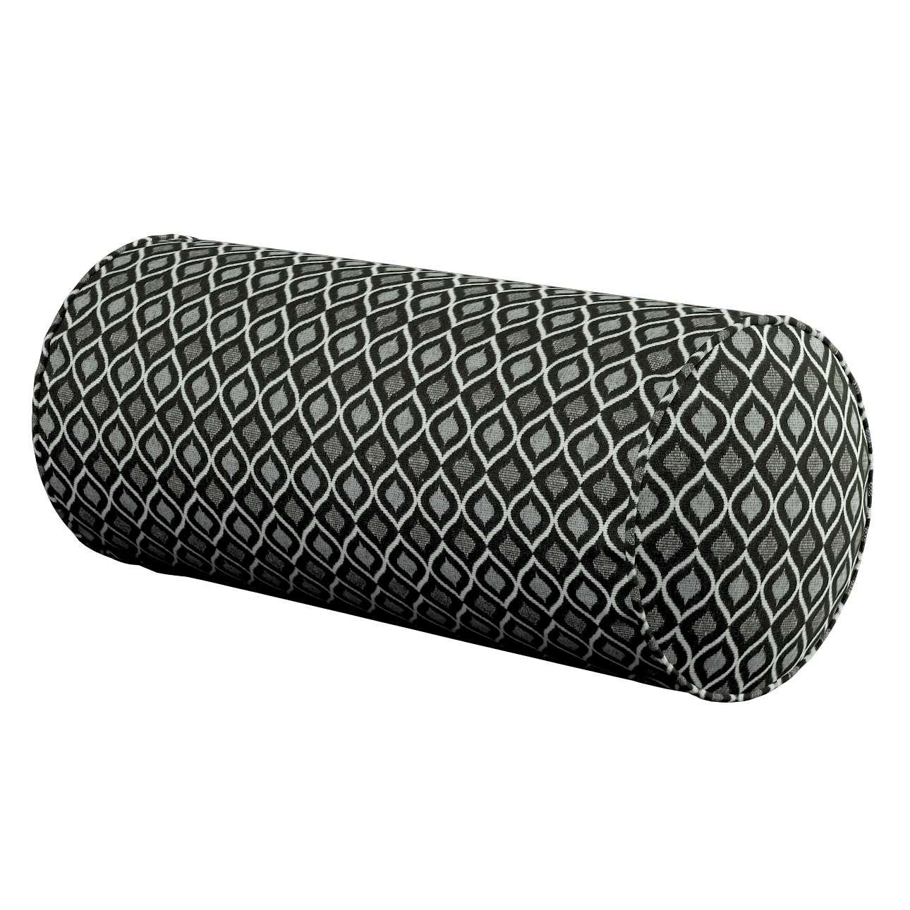 Poduszka wałek prosty w kolekcji Black & White, tkanina: 142-86