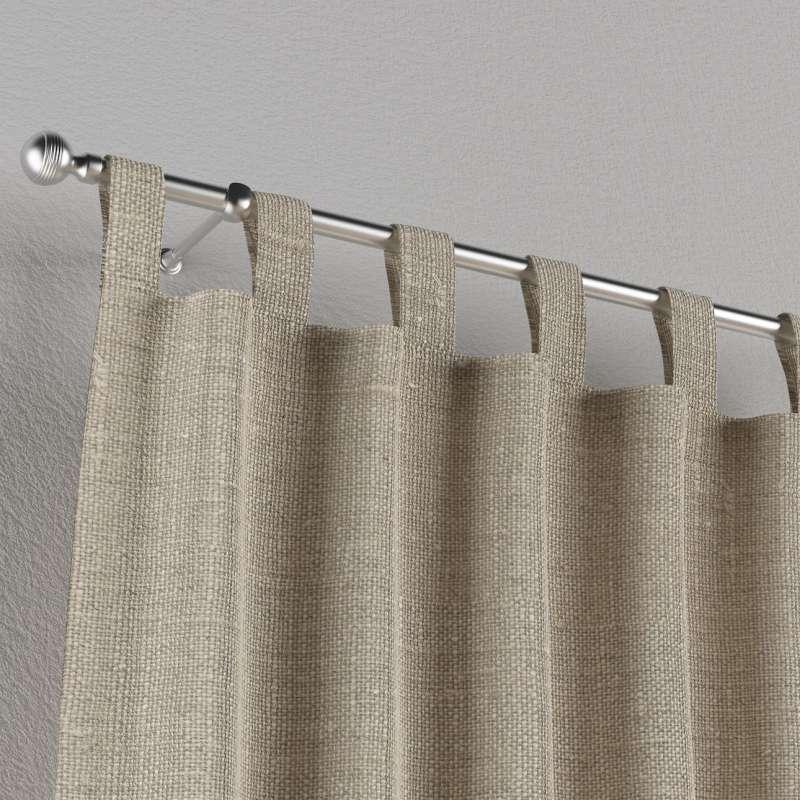 Zasłona na szelkach 1 szt. w kolekcji Linen, tkanina: 392-05