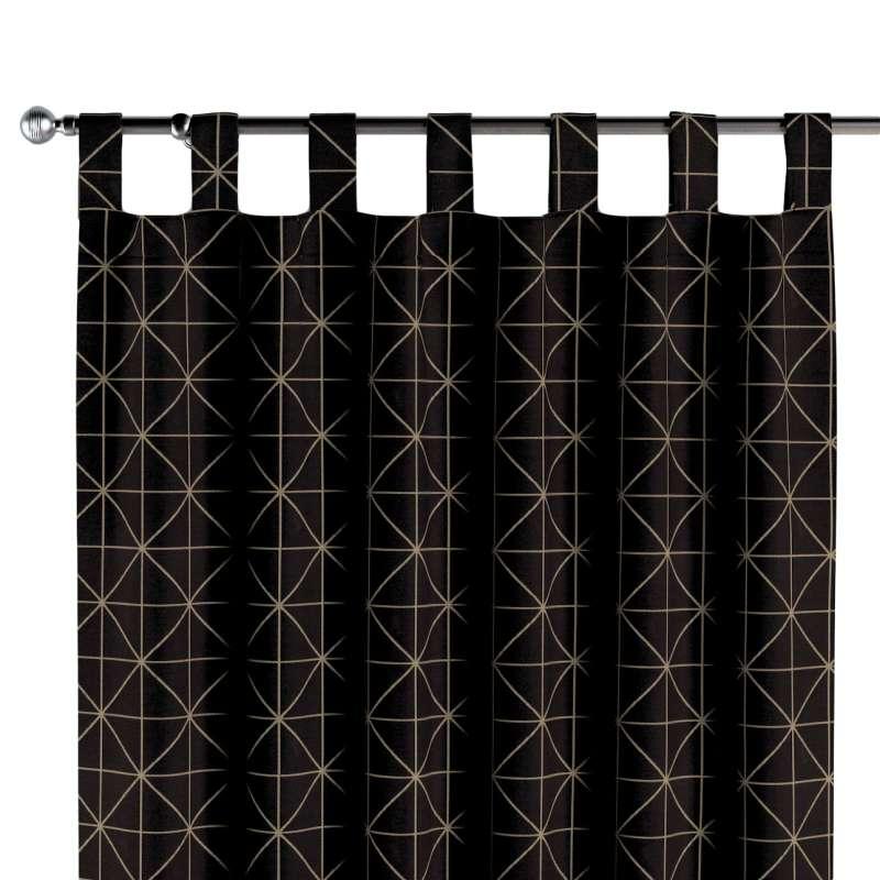 Záves na pútkach V kolekcii Black & White, tkanina: 142-55