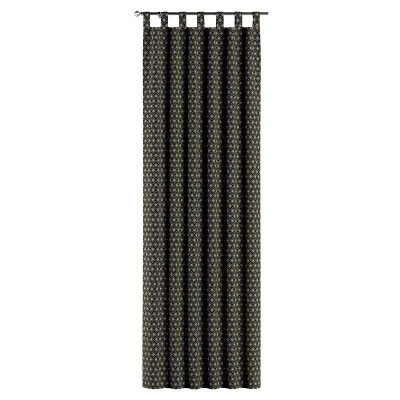 Gardin med stropper 1 stk. fra kollektionen Black & White, Stof: 142-56