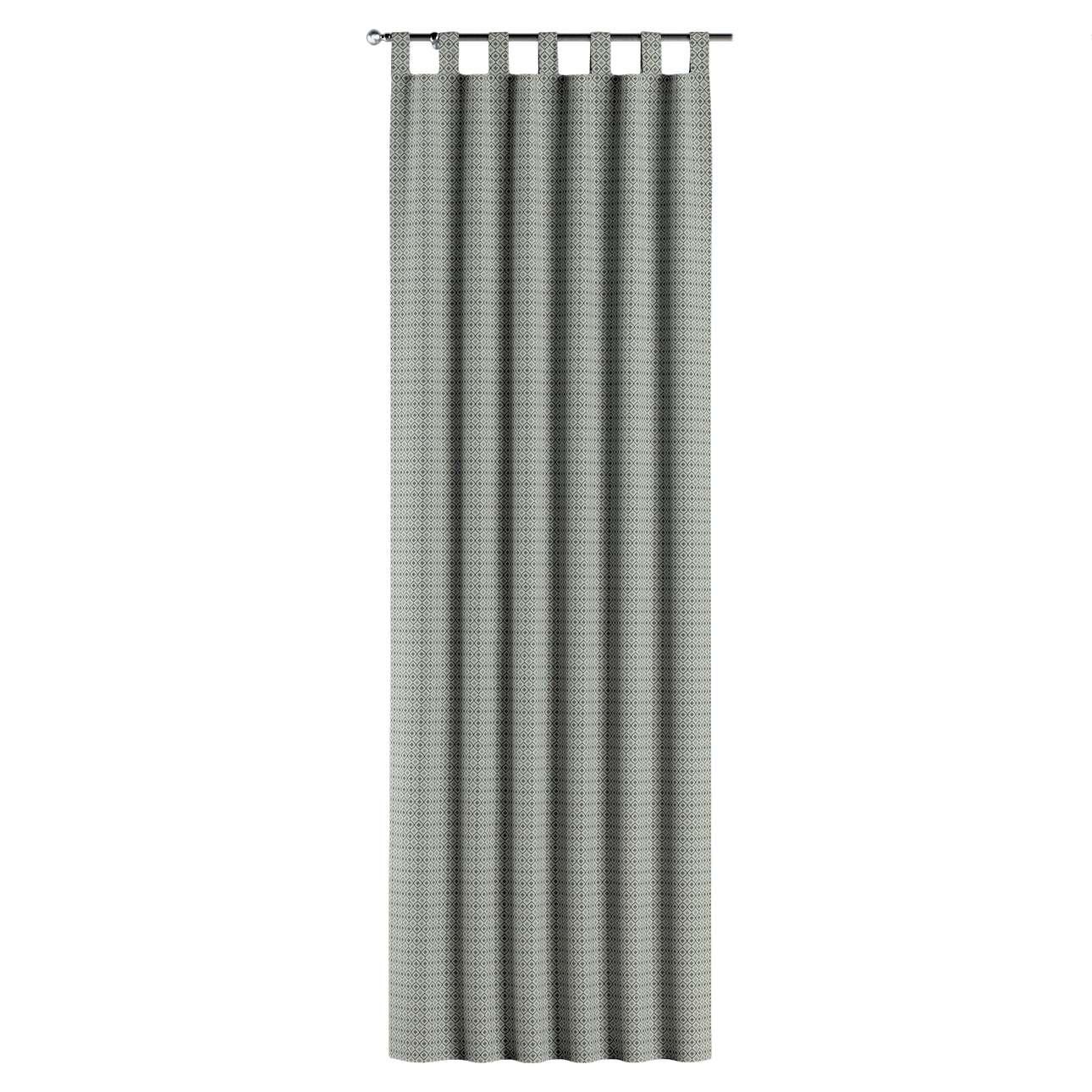 Gardin med stropper 1 stk. fra kolleksjonen Black & White, Stoffets bredde: 142-76