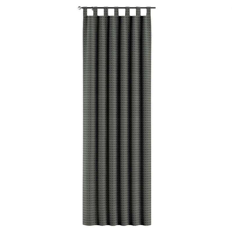 Gardin med stropper 1 stk. fra kollektionen Black & White, Stof: 142-86