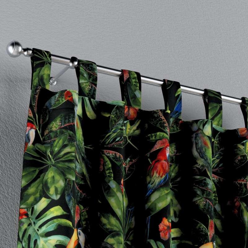 Zasłona na szelkach 1 szt. w kolekcji Velvet, tkanina: 704-28
