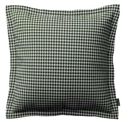 Mona - potah na polštář hladký lem po obvodu v kolekci Black & White, látka: 142-77
