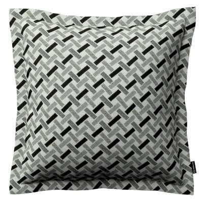 Mona - potah na polštář hladký lem po obvodu v kolekci Black & White, látka: 142-78