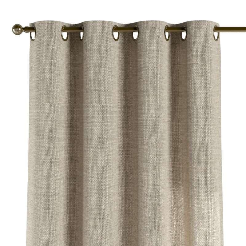 Zasłona na kółkach 1 szt. w kolekcji Linen, tkanina: 392-05