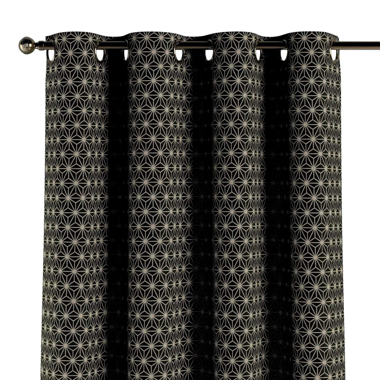 Verho purjerenkailla mallistosta Black & White, Kangas: 142-56