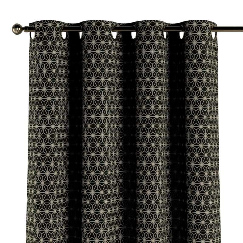 Gardin med øskner 1 stk. fra kollektionen Black & White, Stof: 142-56