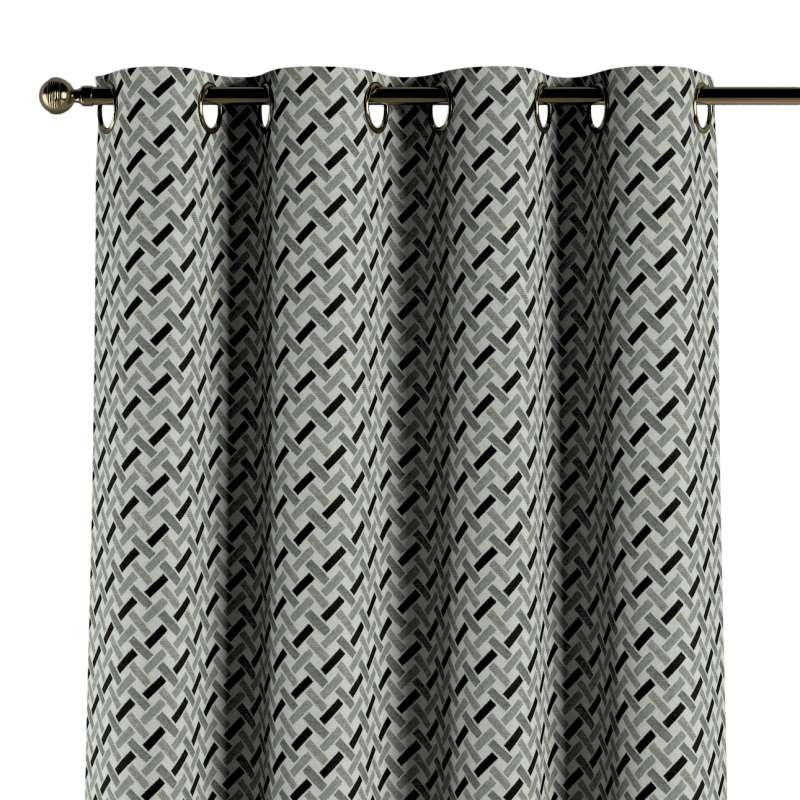Gardin med øskner 1 stk. fra kollektionen Black & White, Stof: 142-78