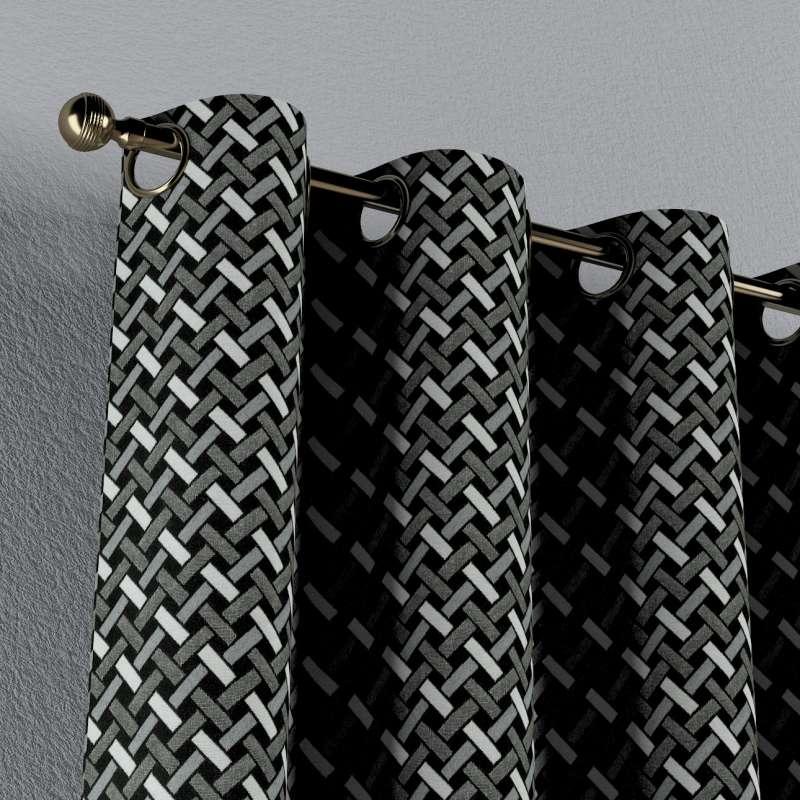 Ösenschal von der Kollektion Black & White, Stoff: 142-87