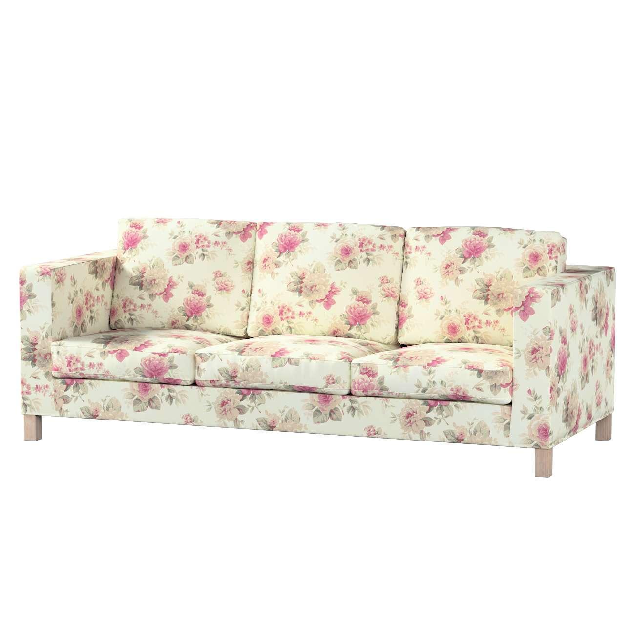 Pokrowiec na sofę Karlanda 3-osobową nierozkładaną, krótki w kolekcji Londres, tkanina: 141-07