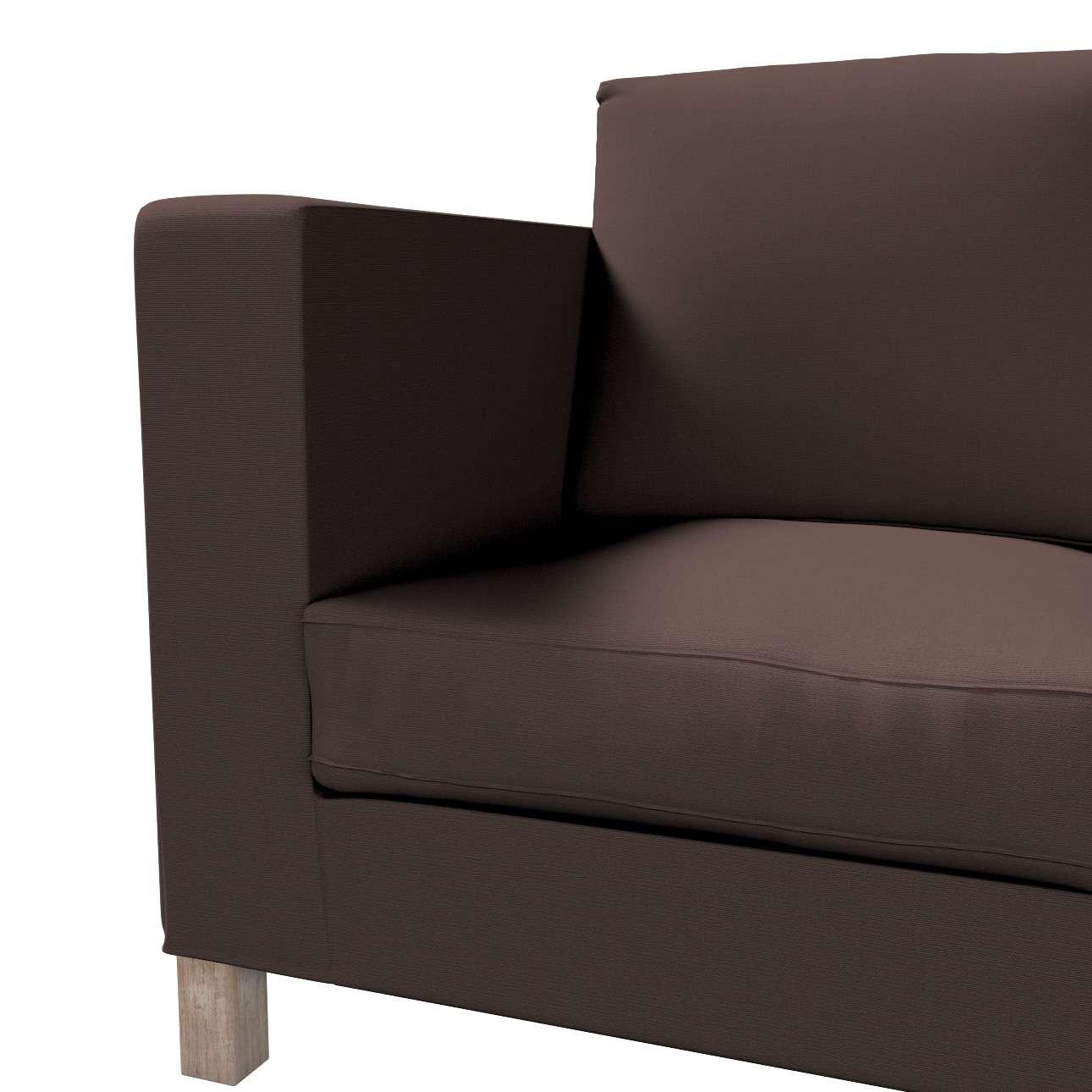 Karlanda 3-Sitzer Sofabezug nicht ausklappbar kurz von der Kollektion Cotton Panama, Stoff: 702-03