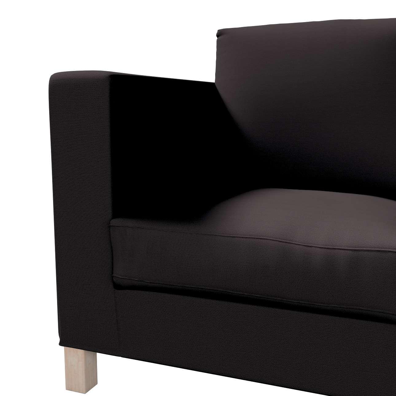 Pokrowiec na sofę Karlanda 3-osobową nierozkładaną, krótki w kolekcji Cotton Panama, tkanina: 702-08