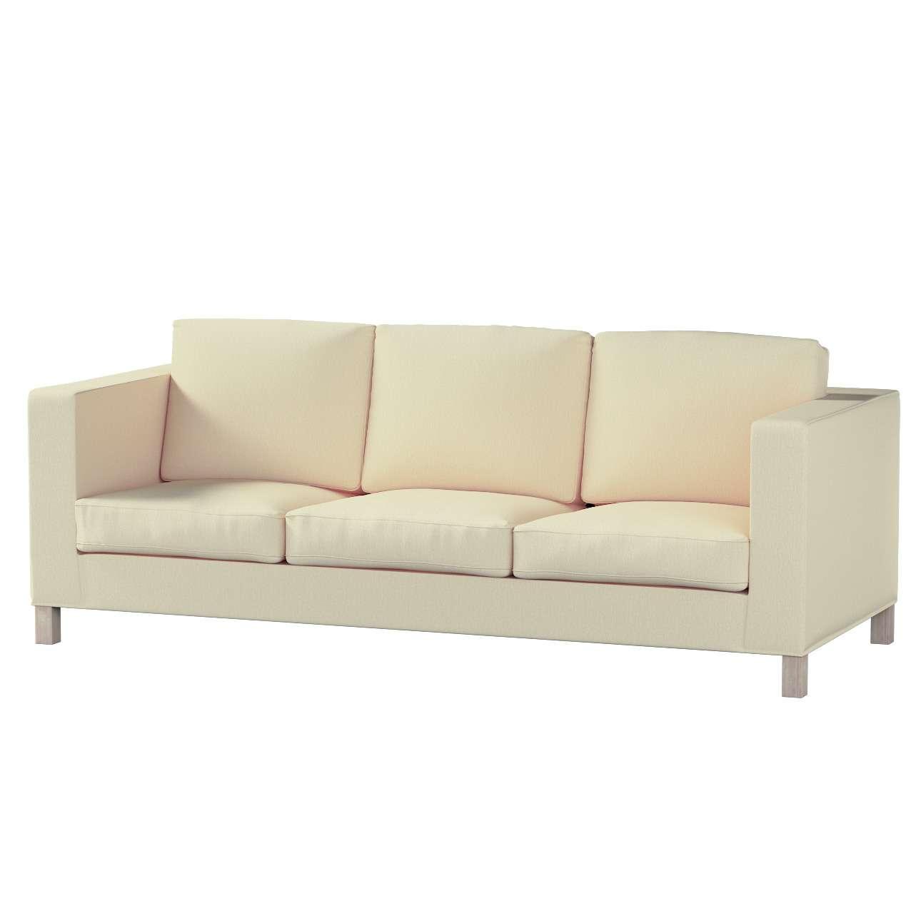 Pokrowiec na sofę Karlanda 3-osobową nierozkładaną, krótki w kolekcji Chenille, tkanina: 702-22