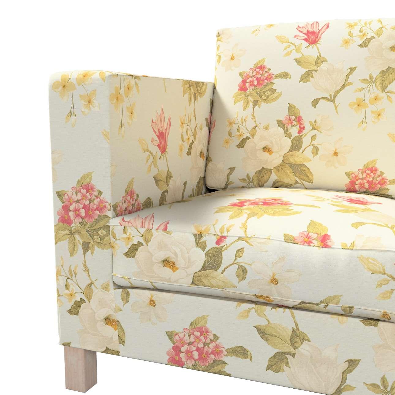 Pokrowiec na sofę Karlanda 3-osobową nierozkładaną, krótki w kolekcji Londres, tkanina: 123-65