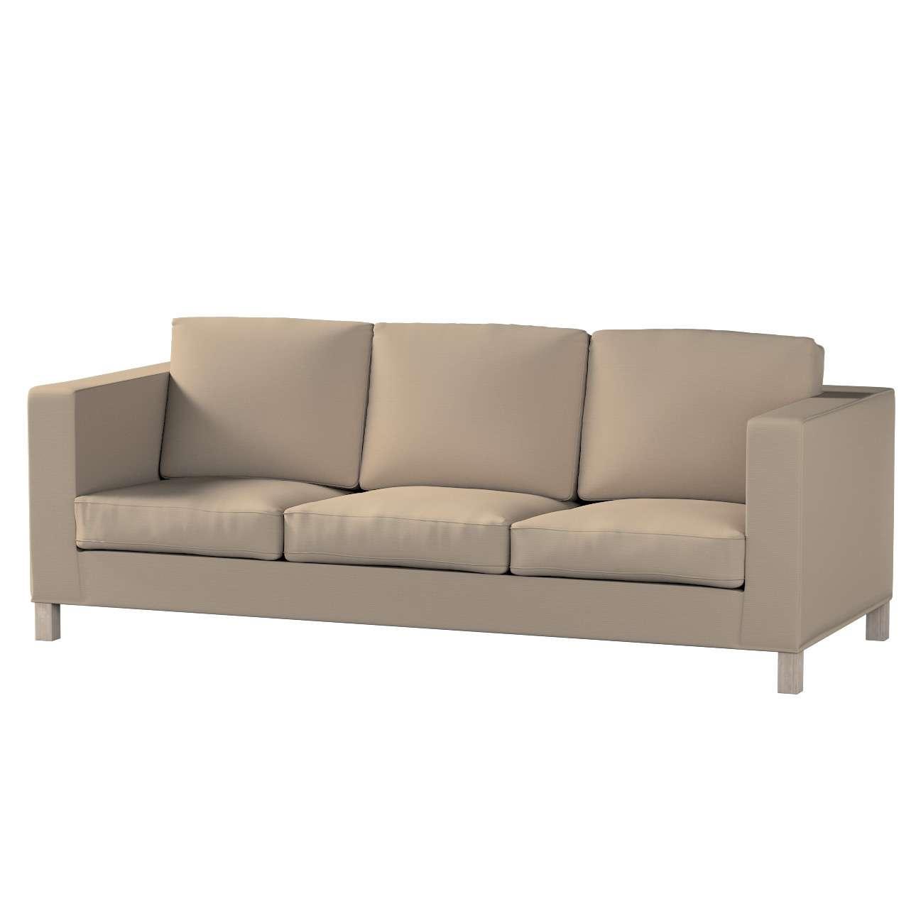 Karlanda 3-Sitzer Sofabezug nicht ausklappbar kurz von der Kollektion Cotton Panama, Stoff: 702-28