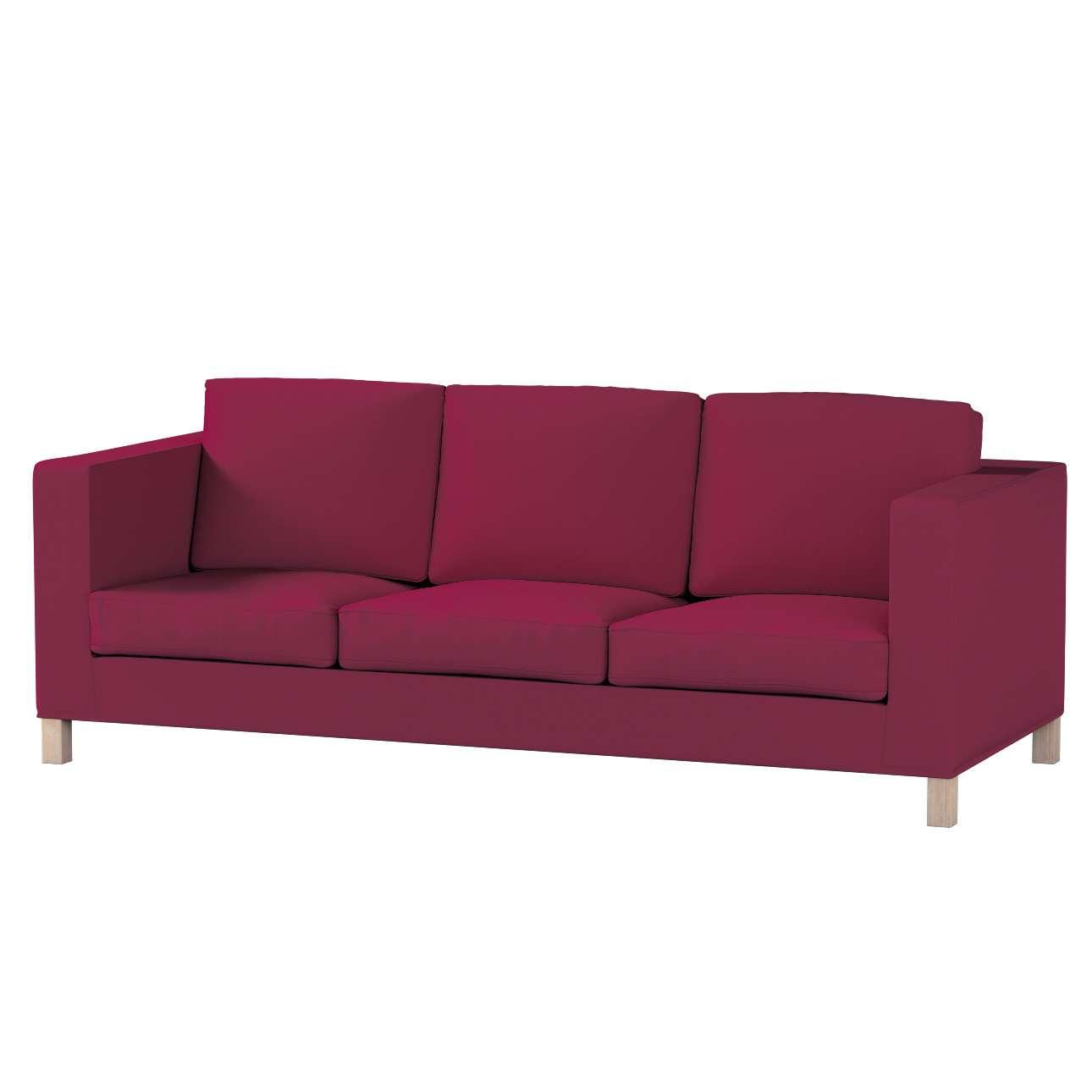 Pokrowiec na sofę Karlanda 3-osobową nierozkładaną, krótki w kolekcji Cotton Panama, tkanina: 702-32