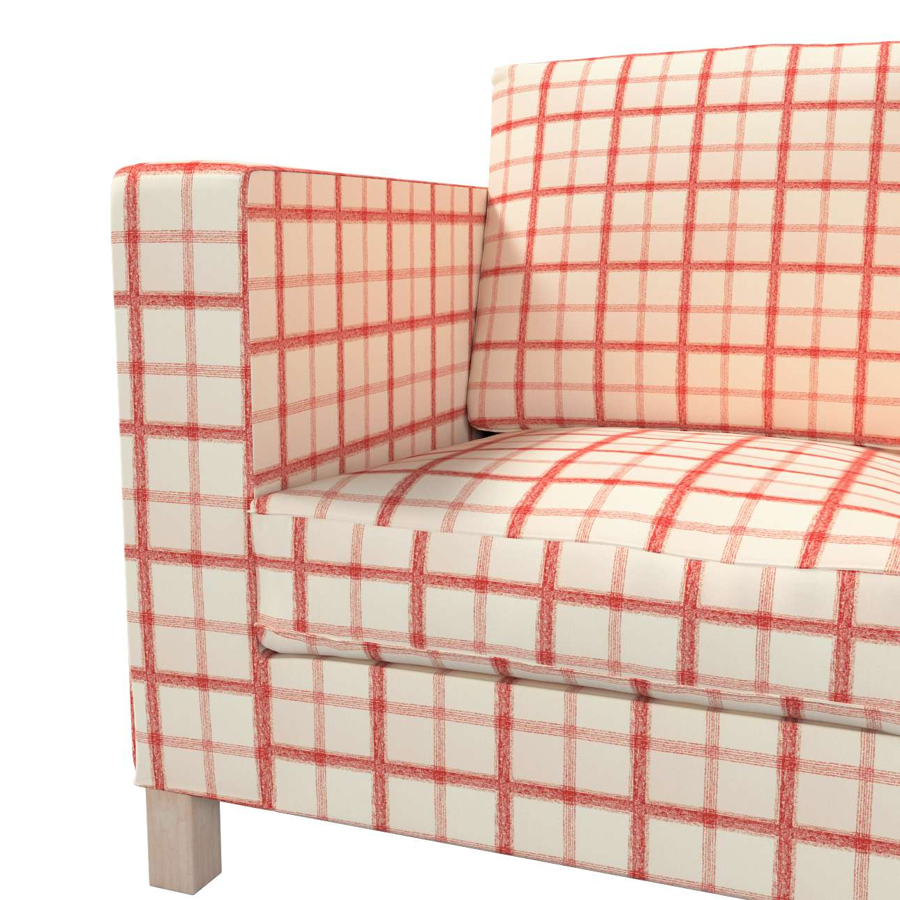 Pokrowiec na sofę Karlanda 3-osobową nierozkładaną, krótki w kolekcji Avinon, tkanina: 131-15