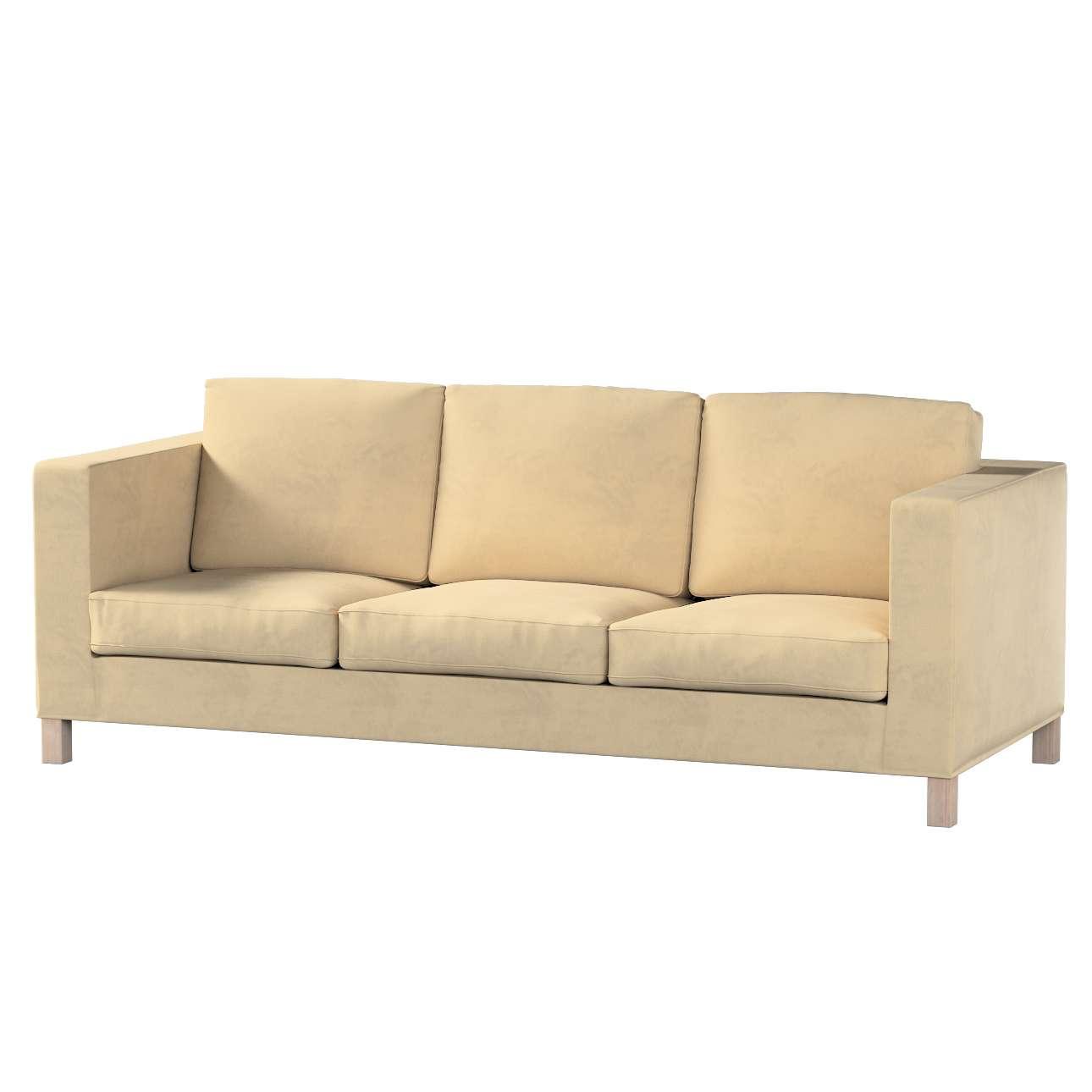 Karlanda 3-Sitzer Sofabezug nicht ausklappbar kurz von der Kollektion Living, Stoff: 160-82