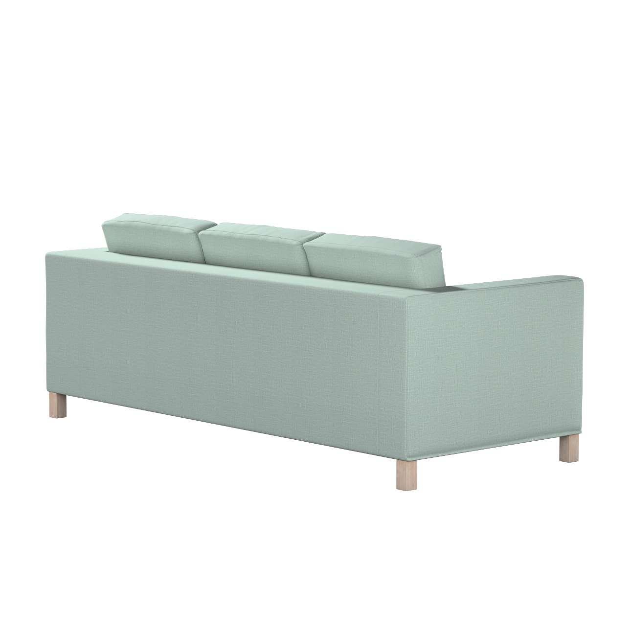 Pokrowiec na sofę Karlanda 3-osobową nierozkładaną, krótki w kolekcji Living, tkanina: 160-86