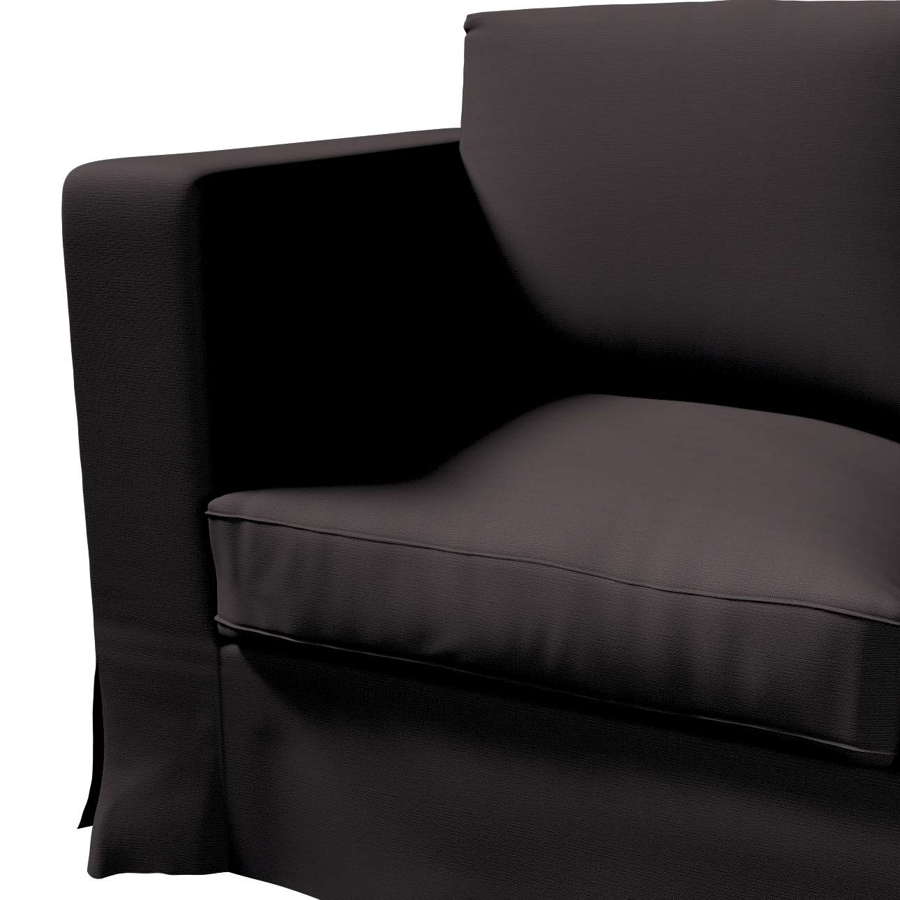Karlanda 3-Sitzer Sofabezug nicht ausklappbar lang von der Kollektion Cotton Panama, Stoff: 702-08