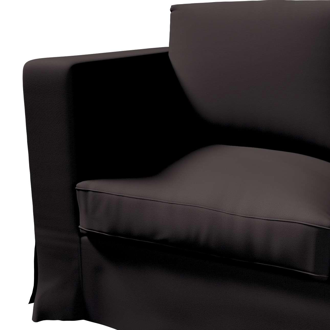 Pokrowiec na sofę Karlanda 3-osobową nierozkładaną, długi w kolekcji Cotton Panama, tkanina: 702-09