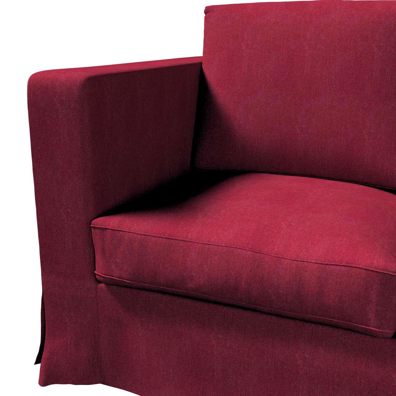 Pokrowiec na sofę Karlanda 3-osobową nierozkładaną, długi w kolekcji Chenille, tkanina: 702-19