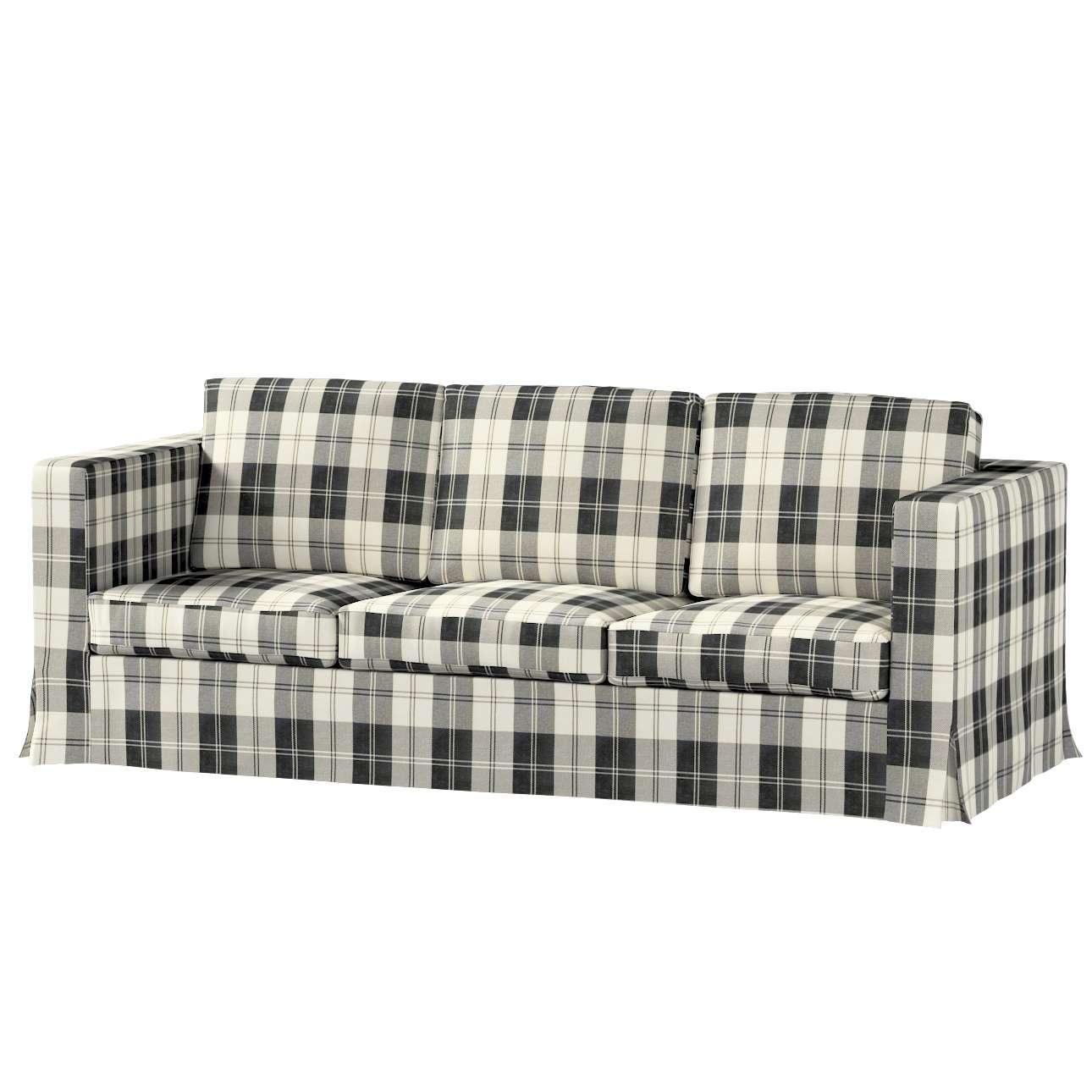 Pokrowiec na sofę Karlanda 3-osobową nierozkładaną, długi w kolekcji Edinburgh, tkanina: 115-74