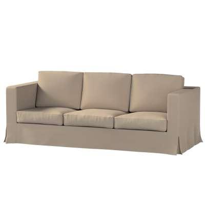 Pokrowiec na sofę Karlanda 3-osobową nierozkładaną, długi w kolekcji Cotton Panama, tkanina: 702-28