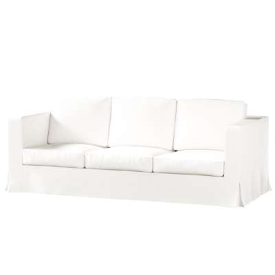 Pokrowiec na sofę Karlanda 3-osobową nierozkładaną, długi w kolekcji Cotton Panama, tkanina: 702-34