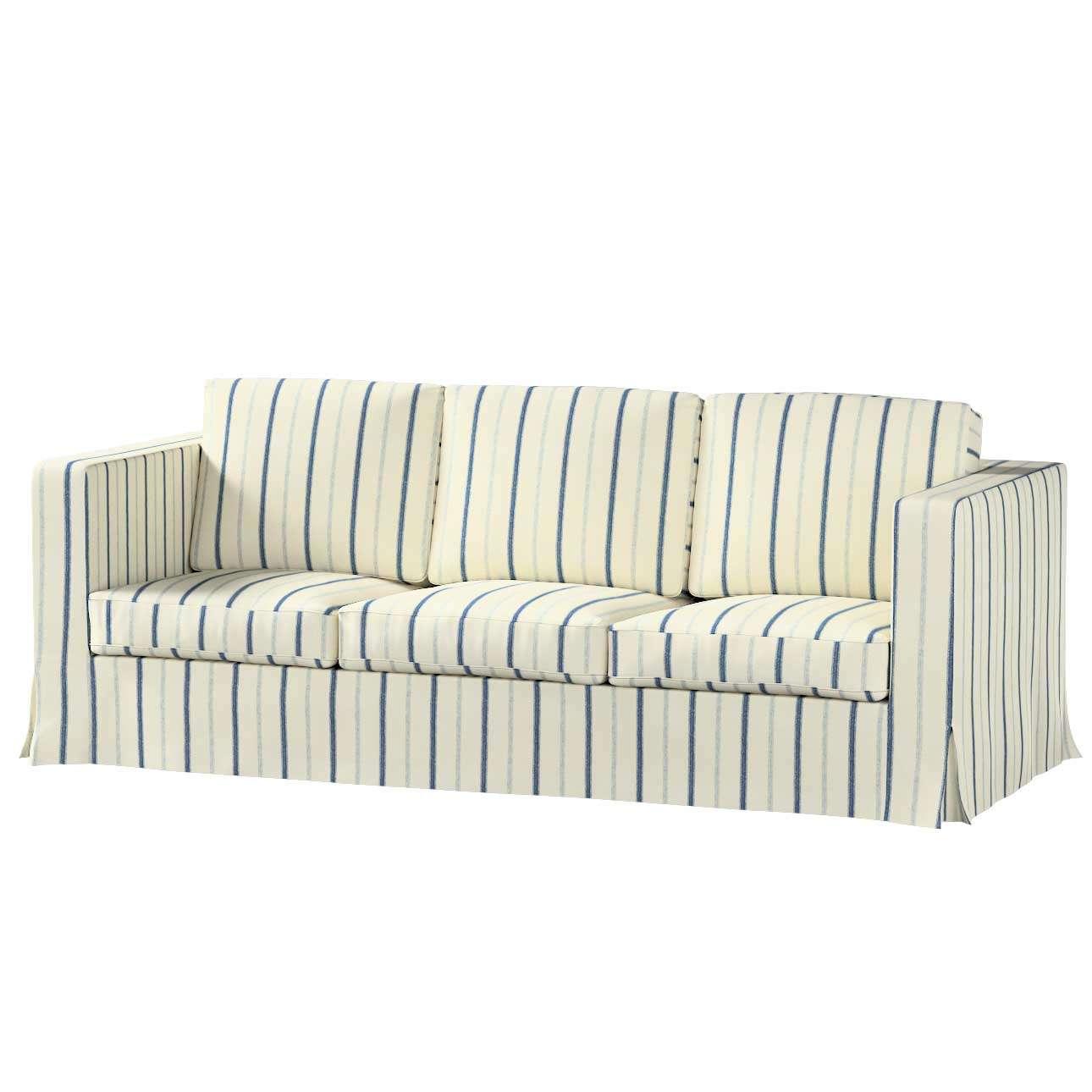 Pokrowiec na sofę Karlanda 3-osobową nierozkładaną, długi w kolekcji Avinon, tkanina: 129-66