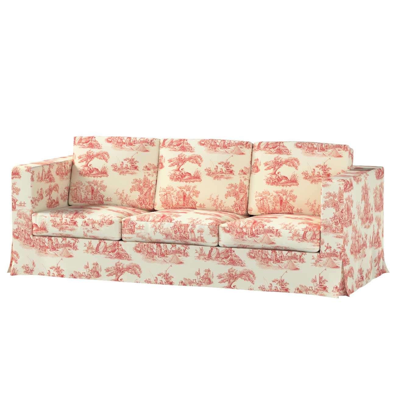 Pokrowiec na sofę Karlanda 3-osobową nierozkładaną, długi w kolekcji Avinon, tkanina: 132-15