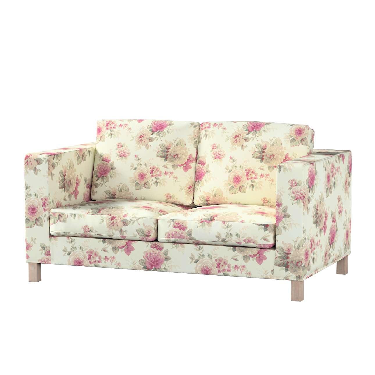 Pokrowiec na sofę Karlanda 2-osobową nierozkładaną, krótki w kolekcji Londres, tkanina: 141-07