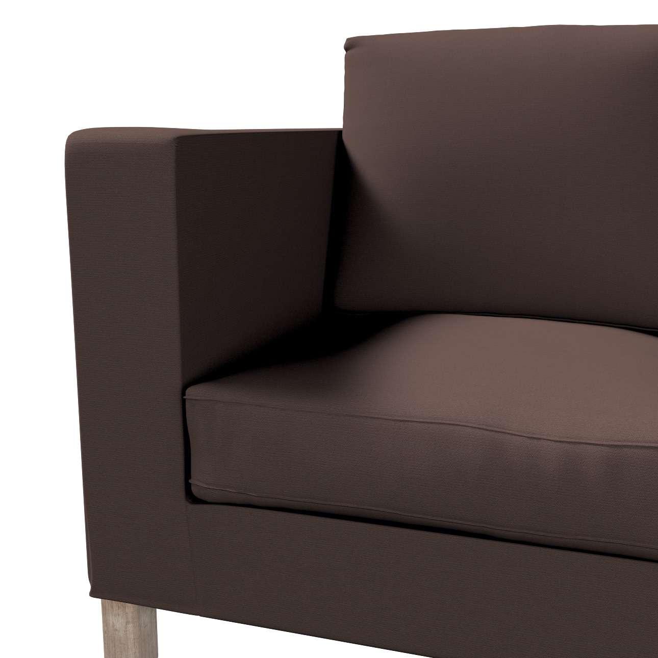 Pokrowiec na sofę Karlanda 2-osobową nierozkładaną, krótki w kolekcji Cotton Panama, tkanina: 702-03