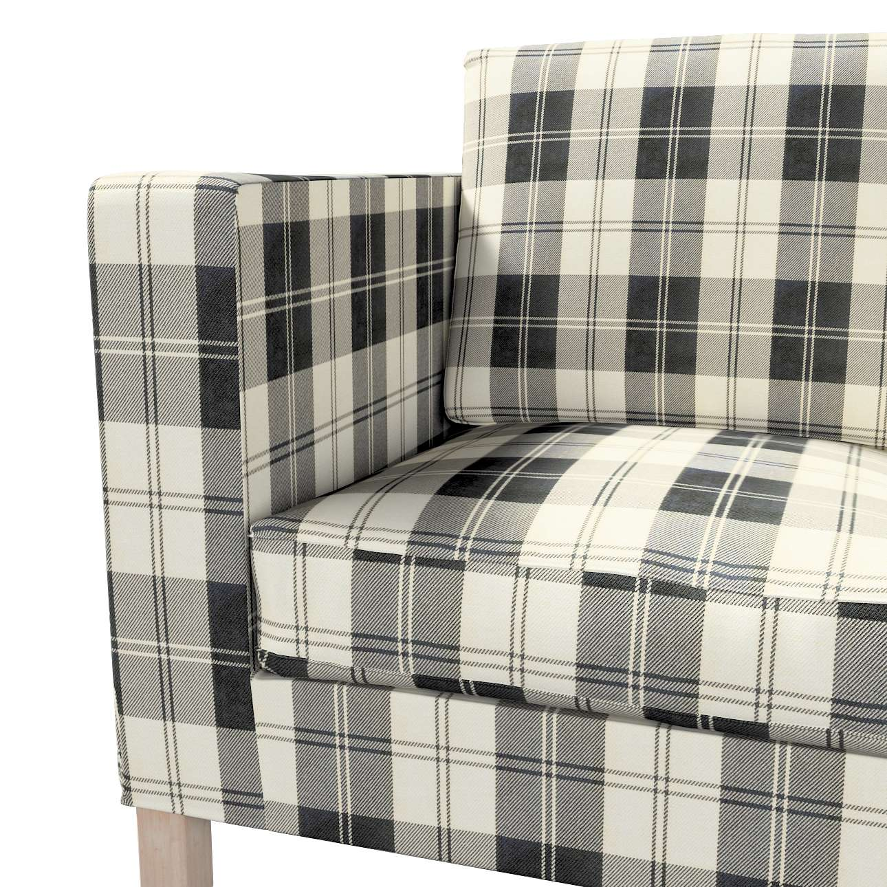 Pokrowiec na sofę Karlanda 2-osobową nierozkładaną, krótki w kolekcji Edinburgh, tkanina: 115-74