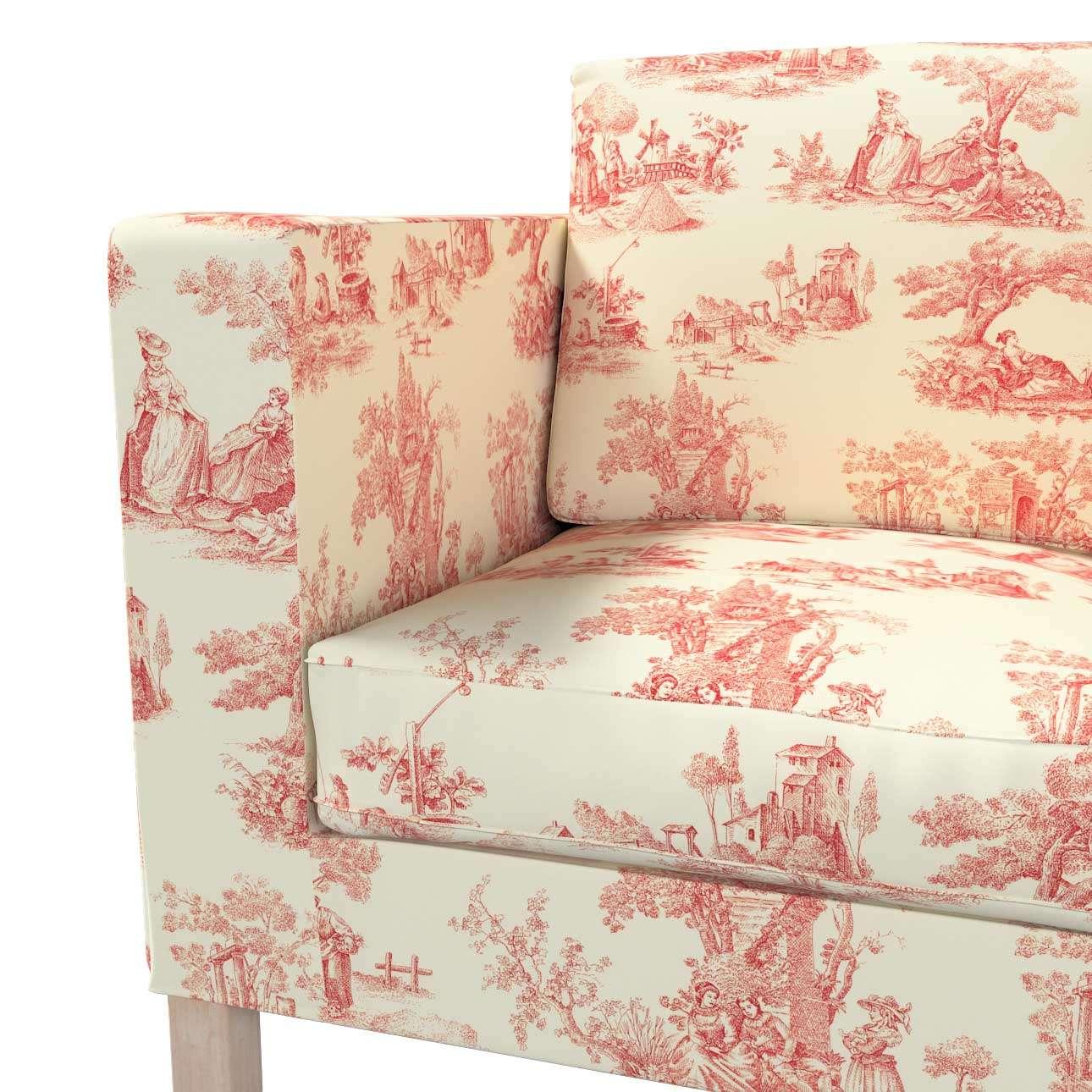 Pokrowiec na sofę Karlanda 2-osobową nierozkładaną, krótki w kolekcji Avinon, tkanina: 132-15