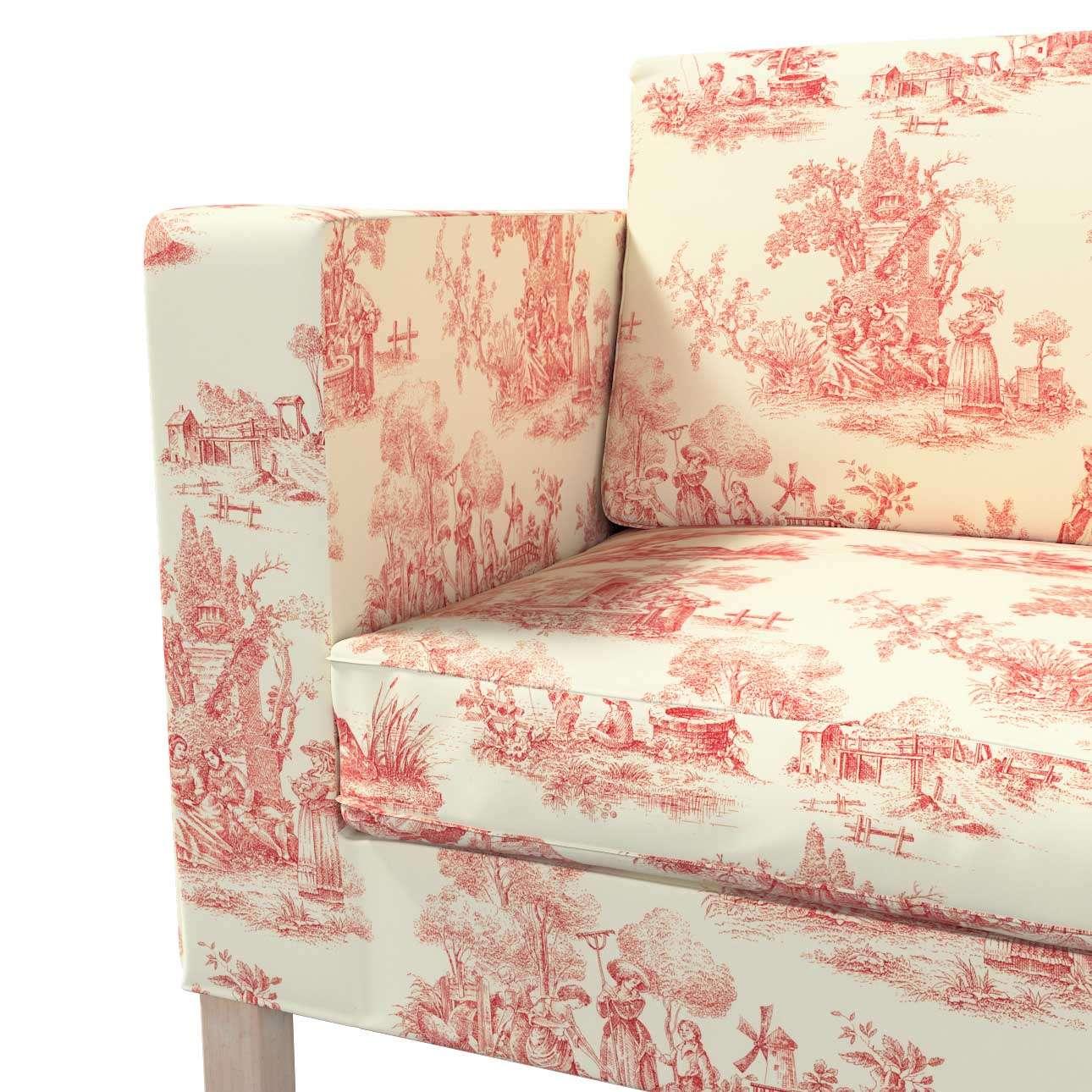 Pokrowiec na sofę Karlanda rozkładaną, krótki w kolekcji Avinon, tkanina: 132-15