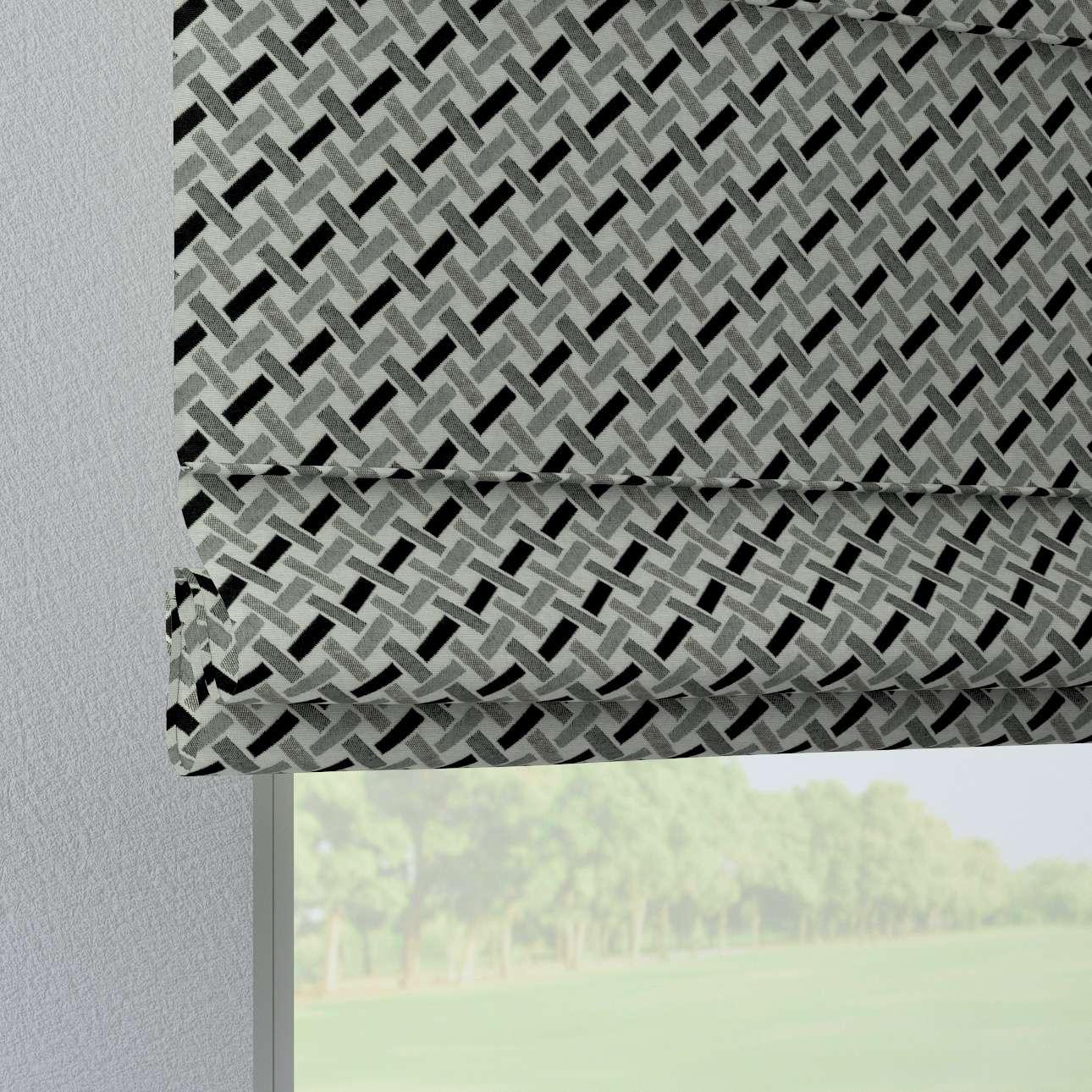 Foldegardin Verona<br/>Med stropper til gardinstang fra kollektionen Black & White, Stof: 142-78