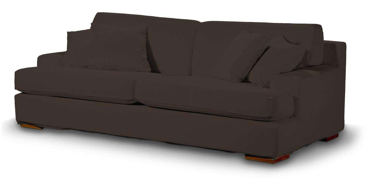 Pokrowiec na sofę Göteborg nierozkładaną w kolekcji Cotton Panama, tkanina: 702-03