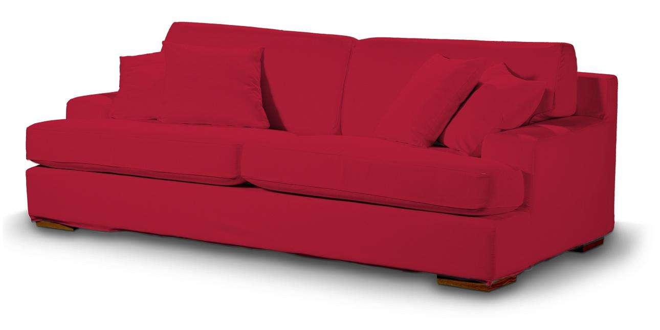 Pokrowiec na sofę Göteborg nierozkładaną w kolekcji Cotton Panama, tkanina: 702-04