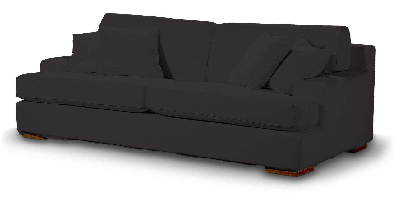 Pokrowiec na sofę Göteborg nierozkładaną w kolekcji Cotton Panama, tkanina: 702-08