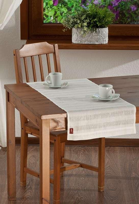 Rechthoekige tafelloper van de collectie Linnen, Stof: 392-03