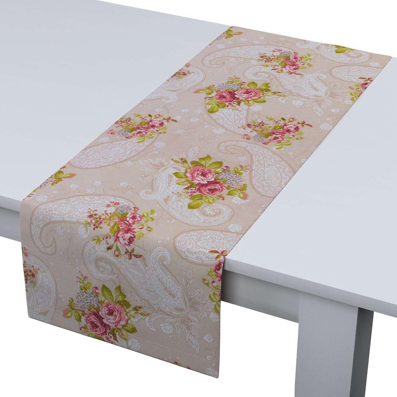 Rechthoekige tafelloper van de collectie Flowers, Stof: 311-15
