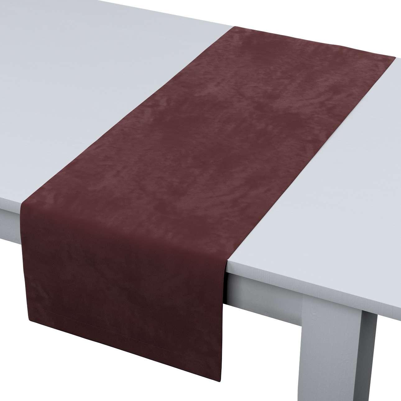 Rechthoekige tafelloper van de collectie Velvet, Stof: 704-26