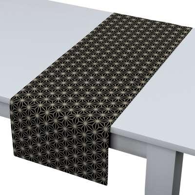 Rechthoekige tafelloper van de collectie Black & White, Stof: 142-56